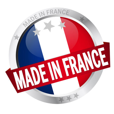 button MADE IN FRANCE Vector