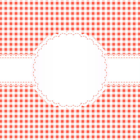 banderole: checkered background with banner and copy space