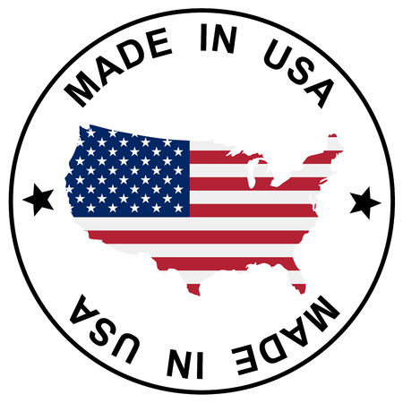 button   stamp - MADE IN USA Vector