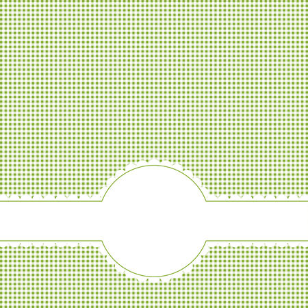 banderole: checkered background with banner