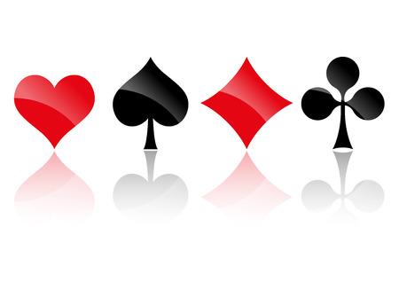 jeu de carte: jouant des couleurs de carte
