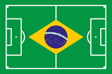 football field BRASIL background vector illustration Vector