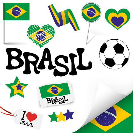 the turn of the year: collection of Brasil icons and marketing accessories