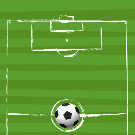 football field grunge drawing vector illustration Vector