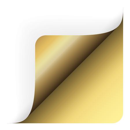 round corner: turn around - golden paper