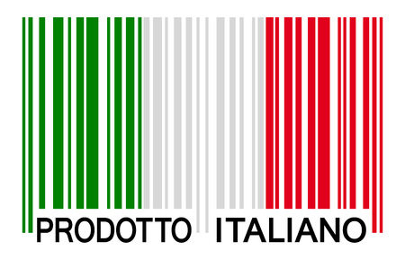 export import: bar code Italy - prodotto italiano