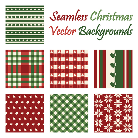 continuously: seven different seamless christmas backgrounds