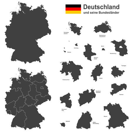 국가 독일 - 세부지도 일러스트