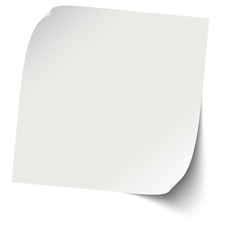 chit: gray sticky note with shadows Illustration