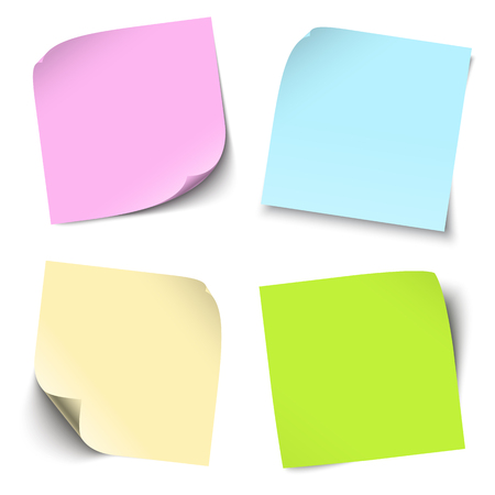 broadsheet: collection of colored sticky notes