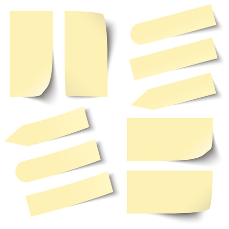 chit: collection of yellow sticky notes Illustration