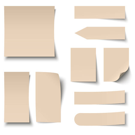 chit: collection of brown sticky notes