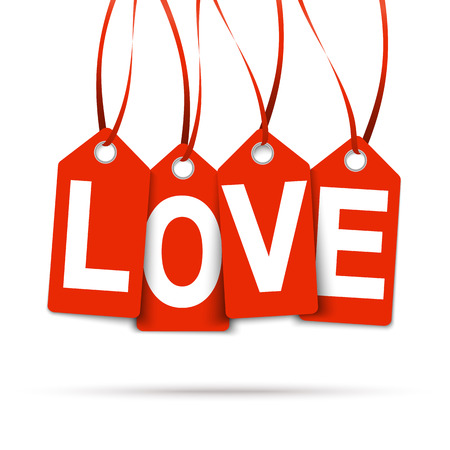connectedness: hangtags with   LOVE