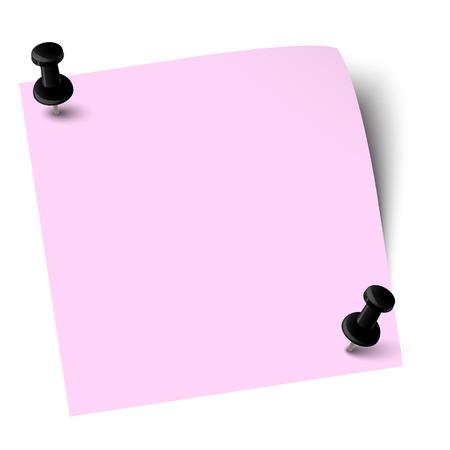 sticky note: sticky note with pin needles