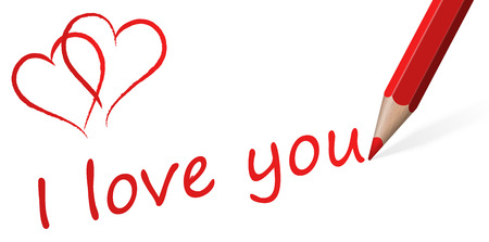 pencil with   I love you   Vector