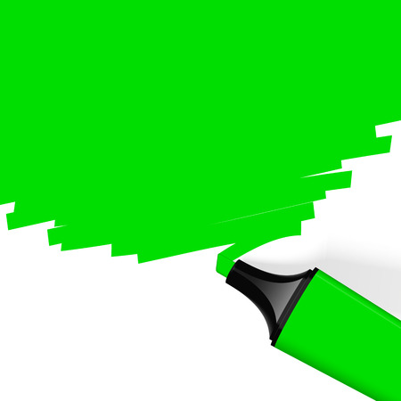characterize: green highlighter with copy space Illustration