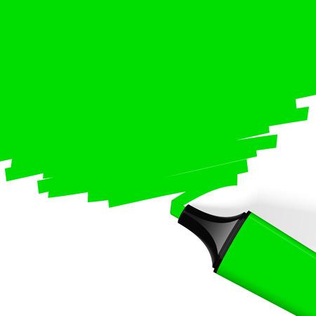 characterize: resaltador verde con copia espacio