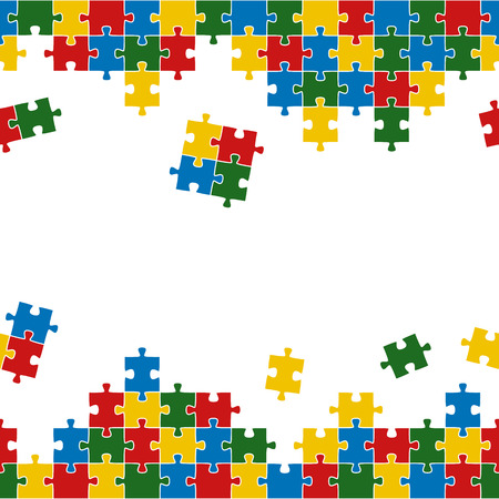 team work: puzzle background - colored