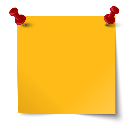chit: sticky note with two pin needles