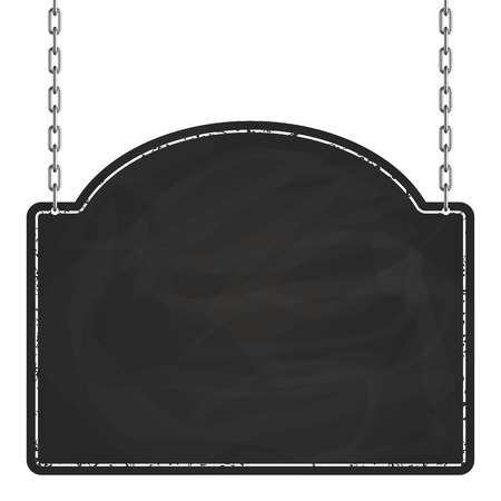 empty blackboard with chains Ilustracja