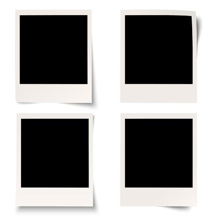 polaroid: collection de photos anciennes avec des ombres diff�rentes