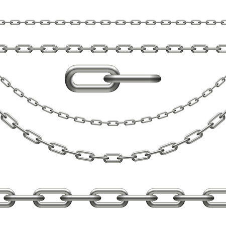 collection of chains seamless, chain link