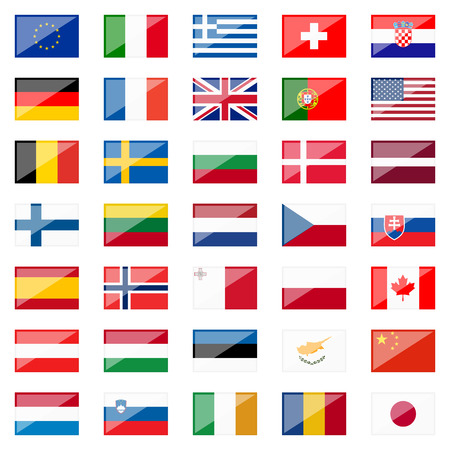 collection of country flags Vector