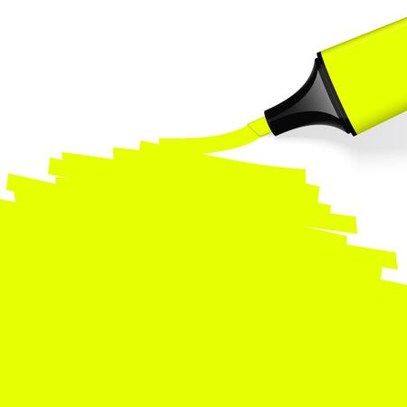 characterize: resaltador amarillo con copia espacio Vectores