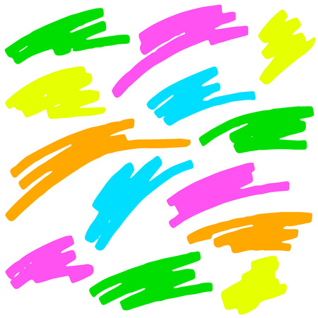 characterize: colecci�n de marcas de resaltado de colores