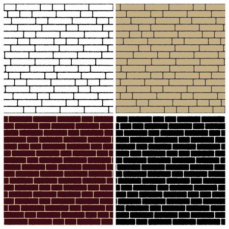 collectie van bakstenen muren - verschillende kleuren