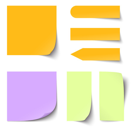 collection of colored sticky notes