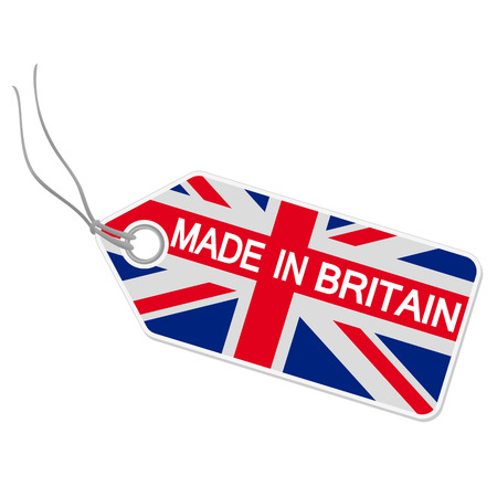hangtag Made in Britain Stok Fotoğraf - 28787546