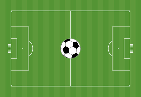 soccer pitch with ball in the middle