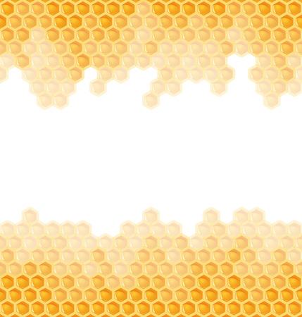 an inflorescence: honeycomb seamless background