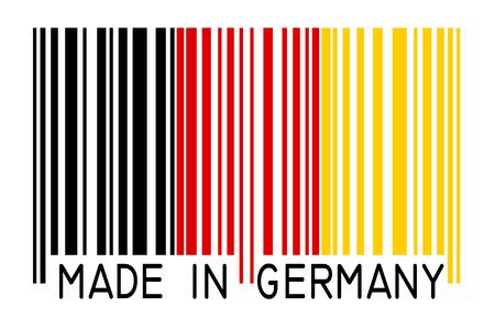 internationally: bar code - Made in Germany Illustration