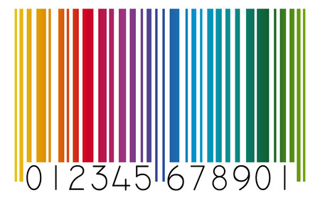 colored bar code 向量圖像