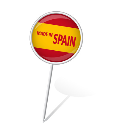 made in spain: pin needle with Spain flag