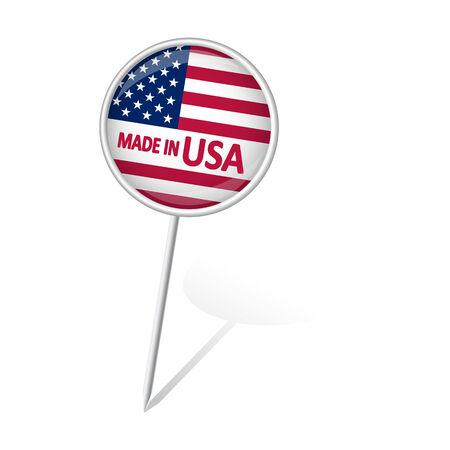 internationally: pin needle with USA flag