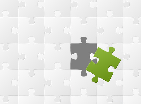 business puzzle - it fits   Vector