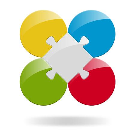risico analyse: Puzzel Teamwork met 4 Opties