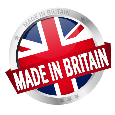banderole: button MADE IN BRITAIN Illustration