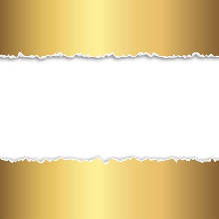 torn up paper gold Illustration