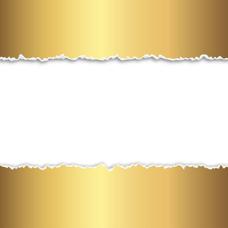 tore: torn up paper gold Illustration