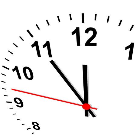 clock - eleven fifty-five Vector