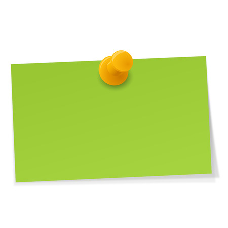 little sticky note with pin neddle