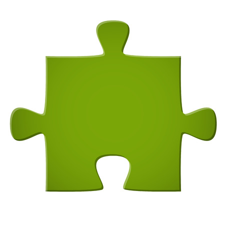 puzzling: puzzle piece green Illustration