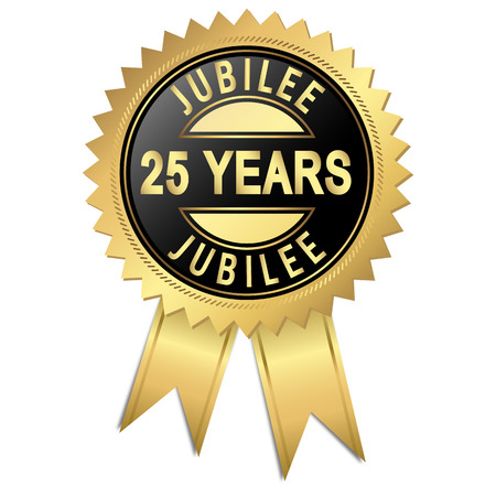 golden seal of quality - 25 years Illusztráció