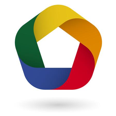 Illustration  template design 5 colors Vector