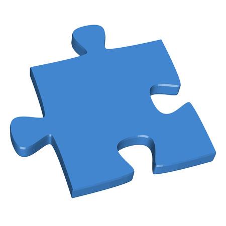 puzzling: 3D puzzle piece blue