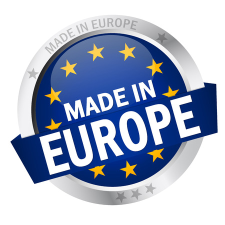 banderole: button MADE IN EUROPE